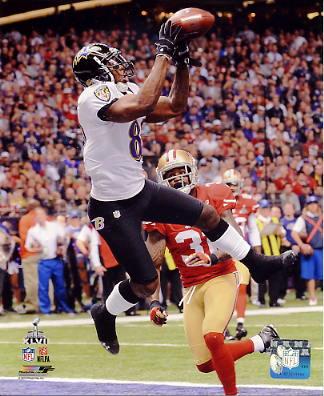 Anquan Boldin Super Bowl 47 Touchdown Baltimore Ravens SATIN 8X10 Photo