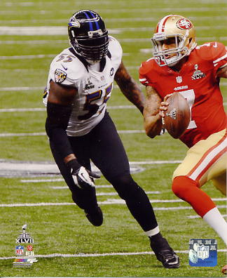 Terrell Suggs Super Bowl 47 Baltimore Ravens SATIN 8X10 Photo