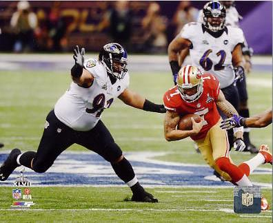 Haloti Ngata Super Bowl 47 Baltimore Ravens SATIN 8X10 Photo