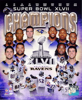 Baltimore Ravens Super Bowl 47 Champions Composite Baltimore Ravens SATIN 8X10 Photo