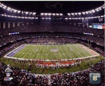 N2 Superdome Mercedes Benz Superdome Super Bowl 47 Ravens vs 49ers SATIN 8X10 Photo