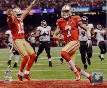 Colin Kaepernick Super Bowl 47 Touchdown San Francisco 49ers SATIN 8X10 Photo