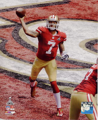 Colin Kaepernick Super Bowl 47 San Francisco 49ers SATIN 8X10 Photo