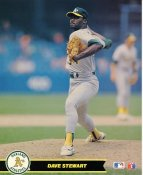 Dave Stewart Oakland A's LIMITED STOCK Glossy Card Stock 8X10 Photo