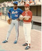 Dwight Gooden &  Pete Rose LIMITED STOCK Mets / Reds 8X10 Photo