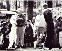 Arnold Palmer, Jack Nicklaus and Tiger Woods Black & White 8X10 Photo