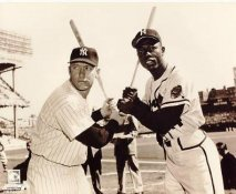 Mickey Mantle & Hank Aaron LIMITED STOCK New York Yankees/ Braves 8x10 Photo