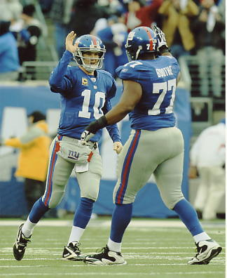 Kevin Boothe & Eli Manning LIMITED STOCK Super Bowl 46 New York Giants 8X10 Photo