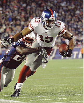 Ramses Barden LIMITED STOCK Super Bowl 46 New York Giants 8X10 Photo