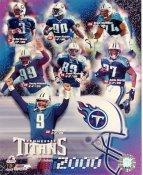 Al DelGreco, Jevon Kearse, Bruce Matthews, Kenny Holmes, Frank Wycheck, Eddie George, Steve McNair LIMITED STOCK 2000 Tennessee Titans 8X10 Photo