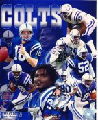 Edgerrin James, Peyton Manning, Marcus Pollard 1999 AFC Division Champs Indianapolis Colts 8X10 Photo