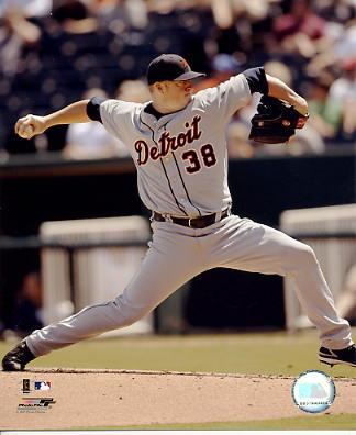 Jeremy Bonderman LIMITED STOCK Detroit Tigers 8X10 Photo