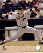 Jeremy Bonderman LIMITED STOCK Detroit Tigers 8X10 Photo