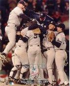 Orlando Hernandez, Tino Martinez, Derek Jeter, Clay Bellinger? LIMITED STOCK 1999 ALCS Champs New York Yankees 8X10 Photo