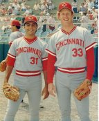 John Franco & Ron Robinson LIMITED STOCK Cincinnati Reds 8X10 Photo