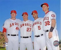 Mark Trumbo, Mike Trout, Albert Pujols & Josh Hamilton Anaheim Angels LIMITED STOCK SATIN 8X10 Photo