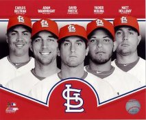 Carlos Beltran, Adam Wainwright, David Freese, Yadier Molina, Matt Holliday 2013 LIMITED STOCK St. Louis Cardinals SATIN 8X10 Photo
