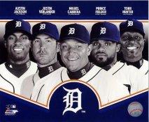 Austin Jackson, Justin Verlander, Miguel Cabrera, Prince Fielder, Torii Hunter 2013 Detroit Tigers SATIN 8X10 Photo