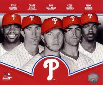 Ryan Howard, Chase Utley, Roy Halladay, Cole Hamels, Jimmy Rollins 2013 Philadelphia Phillies SATIN 8X10 Photo