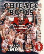 Scottie Pippen, Scott Burrell, Luc Longley, Ron Harper, Dennis Rodman, Steve Kerr LIMITED STOCK 1998 NBA Champions Chicago Bulls 8X10 Photo