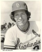 Ken Rudolph St. Louis Cardinals Original Team Issued 8X10 Photo