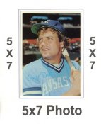 George Brett 1980 Topps Superstars 5x7 Photo Cards Kansas City Royals 5X7 Photo