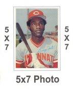 George Foster 1980 Topps Superstars 5x7 Photo Cards Cincinnati Reds 5X7 Photo