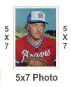 Phil Niekro 1980 Topps Superstars 5x7 Photo Cards Atlanta Braves 5X7 Photo