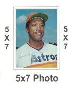 James Rodney Richard 1980 Topps Superstars 5x7 Photo Cards Houston Astros 5X7 Photo