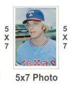 Buddy Bell 1980 Topps Superstars 5x7 Photo Cards Texas Rangers 5X7 Photo