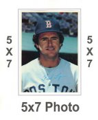 Fred Lynn 1980 Topps Superstars 5x7 Photo Cards Boston Red Sox 5X7 Photo