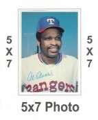 Al Oliver 1980 Topps Superstars 5x7 Photo Cards Texas Rangers 5X7 Photo