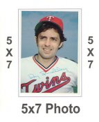 Roy Smalley 1980 Topps Superstars 5x7 Photo Cards Minnesota Twins 5X7 Photo