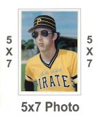 Kent Tekulve 1980 Topps Superstars 5x7 Photo Cards Pittsburgh Pirates 5X7 Photo