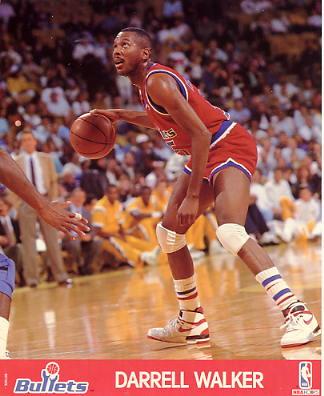 Darrell Walker LIMITED STOCK Washington Bullets 8X10 Photo