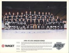 Grant Fuhr, Rick Tocchet, Wayne Gretzky, Darryl Sydor, Tony Granato, Robert Lang 1994-95 LA Kings LIMITED STOCK 8.5x11 Photo