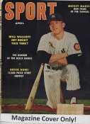 """Mickey Mantle """"MAGAZINE COVER ONLY"""" 1953 ORIGINAL Sport Magazine Cover INCLUDES FREE TOP LOAD HOLDER"""