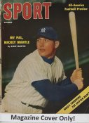 "Mickey Mantle ""MAGAZINE COVER ONLY"" 1956 ORIGINAL Sport Magazine Cover INCLUDES FREE TOP LOAD HOLDER"