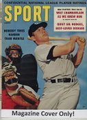 """Mickey Mantle """"MAGAZINE COVER ONLY"""" 1960 ORIGINAL Sport Magazine Cover INCLUDES FREE TOP LOAD HOLDER"""