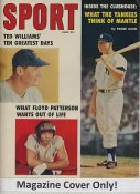 "Mickey Mantle, Ted Williams & Floyd Patterson ""MAGAZINE COVER ONLY"" 1959 ORIGINAL Sport Magazine Cover INCLUDES FREE TOP LOAD HOLDER"