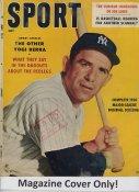 "Yogi Berra ""MAGAZINE COVER ONLY"" 1958 ORIGINAL Sport Magazine Cover INCLUDES FREE TOP LOAD HOLDER"