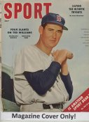 """Ted Williams """"MAGAZINE COVER ONLY"""" 1956 ORIGINAL Sport Magazine Cover INCLUDES FREE TOP LOAD HOLDER"""