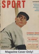 "Ted Williams ""MAGAZINE COVER ONLY"" 1951 ORIGINAL Sport Magazine Cover INCLUDES FREE TOP LOAD HOLDER"