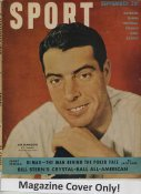 "Joe DiMaggio ""MAGAZINE COVER ONLY"" 1949 ORIGINAL Sport Magazine Cover INCLUDES FREE TOP LOAD HOLDER"