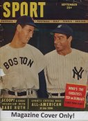 "Joe DiMaggio & Ted Williams ""MAGAZINE COVER ONLY"" 1948 ORIGINAL Sport Magazine Cover Taped INCLUDES FREE TOP LOAD HOLDER"