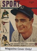 "Lou Gehrig ""MAGAZINE COVER ONLY"" 1948 ORIGINAL Sport Magazine Cover INCLUDES FREE TOP LOAD HOLDER"
