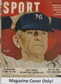 "Casey Stengel ""MAGAZINE COVER ONLY"" 1950 ORIGINAL Sport Magazine Cover INCLUDES FREE TOP LOAD HOLDER"