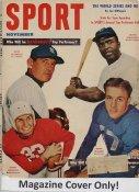 "Jackie Robinson, Allie Reynolds, Doak Walker ""MAGAZINE COVER ONLY"" 1952 ORIGINAL Sport Magazine Cover INCLUDES FREE TOP LOAD HOLDER"