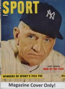 "Casey Stengel ""MAGAZINE COVER ONLY"" 1954 ORIGINAL Sport Magazine Cover INCLUDES FREE TOP LOAD HOLDER"
