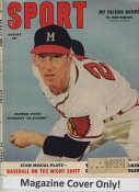 "Warren Spahn ""MAGAZINE COVER ONLY"" 1953 ORIGINAL Sport Magazine Cover INCLUDES FREE TOP LOAD HOLDER"